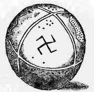 Sphère de terre cuite trouvée dans les ruines de Troie par Schliemann