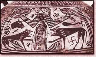 Vase grec orné de svastikas